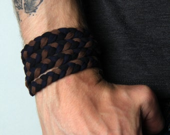 Braided Bracelet, Wrap Bracelet, Boyfriend Gift, Gift for Men, Festival Clothing, Mens Bracelet, Mens Gift, Husband Gift, Gift for Husband