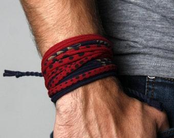 Men Bracelet, Wrap Bracelet, Boyfriend Gift, Festival, Gift for Husband, Boyfriend, Gift for Men, Festival Clothing, Husband Gift, Mens