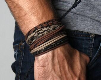 Mens Bracelet, Wrap Bracelet, Boyfriend Gift, Gift for Men, Mens Bracelet, Mens Gift, Husband Gift, Gift for Boyfriend, Gift for Husband