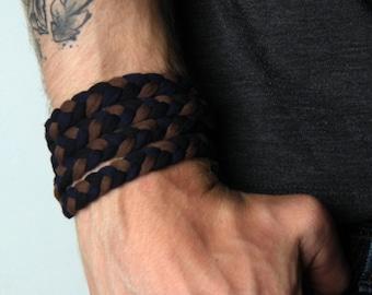 Braided Bracelet, Wrap Bracelet, Boyfriend Gift, Gift for Men, Mens Bracelet, Mens Gift, Husband Gift, Gift for Boyfriend, Gift for Husband