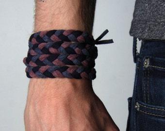 Bracelet Men, Braided Bracelet, Wrap Bracelet, Boyfriend Gift, Gift for Men, Festival Clothing, Mens Gift, Husband Gift, Gift for Boyfriend