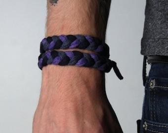 Braided Bracelet, Wrap Bracelet, Boyfriend Gift, Gift for Men, Festival Clothing, Mens Bracelet, Mens Gift, Husband Gift, Gift for Boyfriend