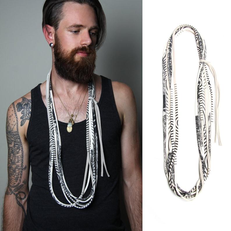 463d2b7eda15d Man Necklace Man Burning Man Clothing Man Festival Scarf Bohemian Man  Jewelry Skinny Scarf Boyfriend Gift Festival Wear Men