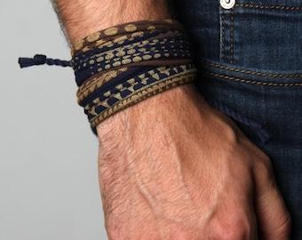 Boyfriend Gift, Gift for Boyfriend, Mens Bracelet, Wrap Bracelet, Gift for Men, Festival Clothing, Husband Gift, Festival, Boyfriend, Mens