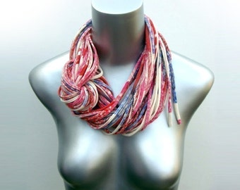 Red Scarf, Infinity Scarf, Womens Gift, Wife Gift, Gift for Mother, Daughter Gift, Mother in Law Gift, Gift for Sister, Statement Necklace