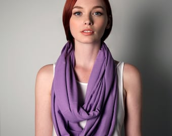 Purple Scarf, Infinity Scarf, Gift ideas for Her, Gift Ideas for Mom, Present for Her, Big Sister, Present for Mom, Gift