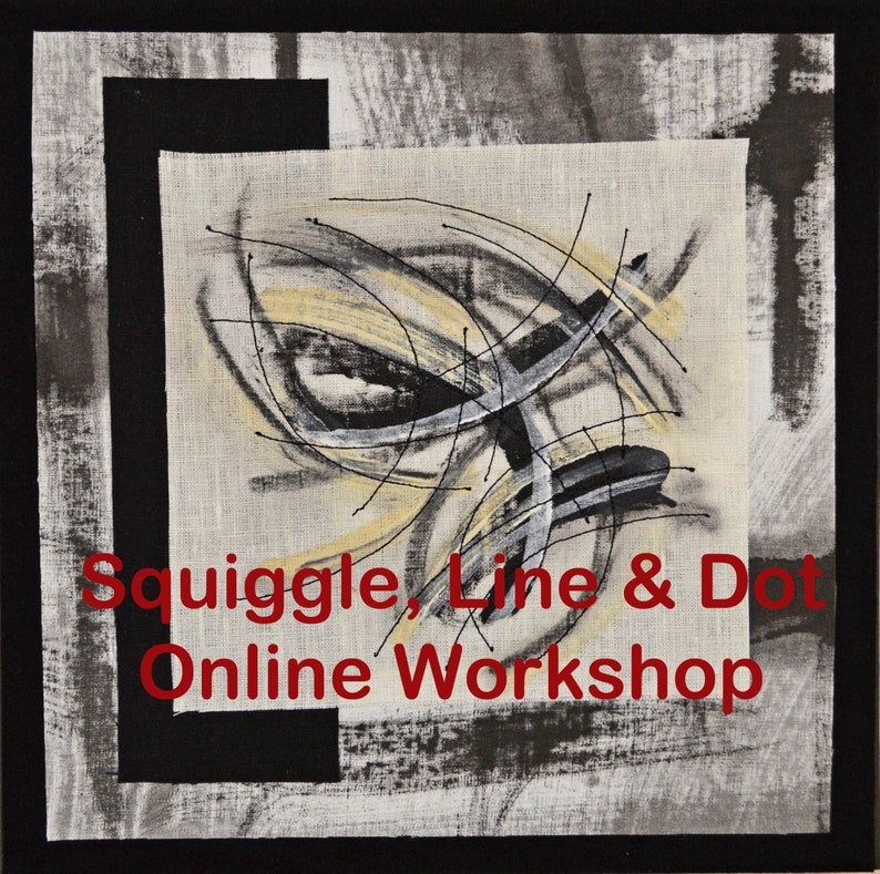 Squiggle Line & Dot  Online Mark Making Workshop for Fabric image 0