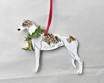 Greyhound ornament | Etsy