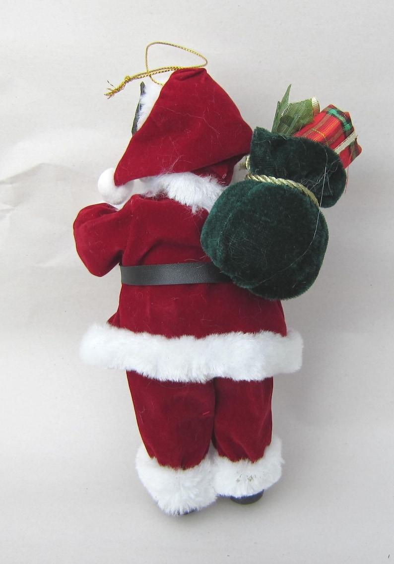 Standing Santa SHIBA INU Dog Santa wsack Holiday Figurine 9 tall Fabric Suit
