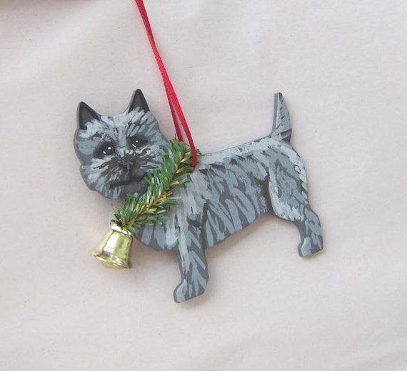 CAIRN TERRIER DOG CHRISTMAS ORNAMENT HOLIDAY  Figurine gift Xmas pet
