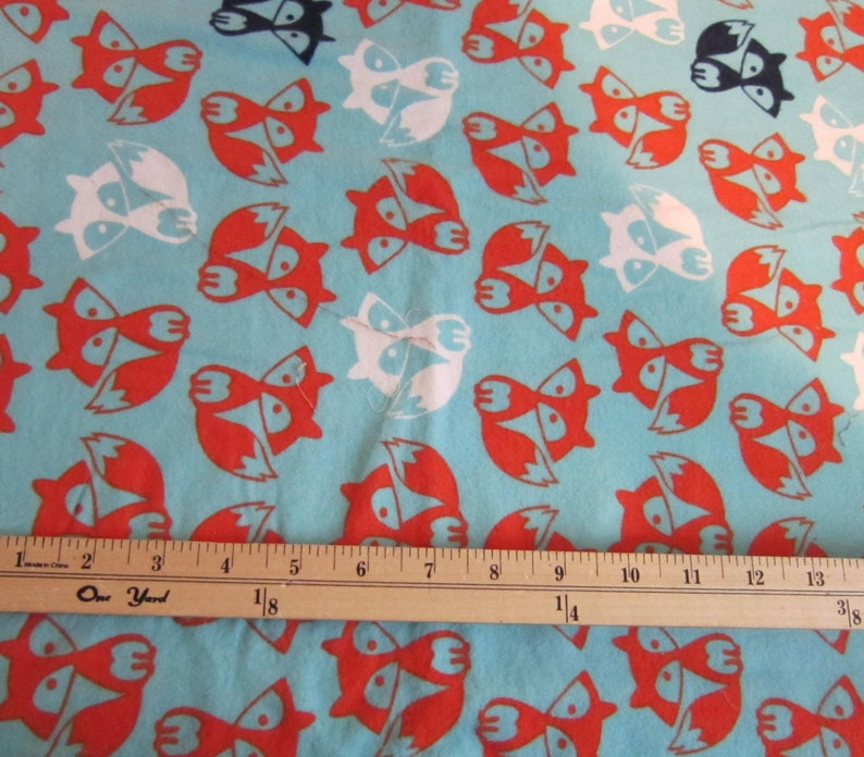 Nursery FOX Print Baby Theme Cotton Flannel Fabric 1+ yards, JOANN'S  pre-washed