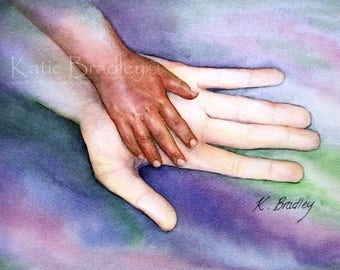 NEW Large and Small Hand 8x10 adoption print