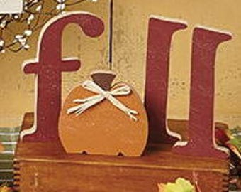 """6"""" Fall letters with Pumpkin"""