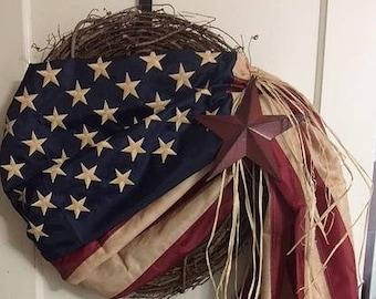 "18"" - 20"" Americana  Flag wreath"