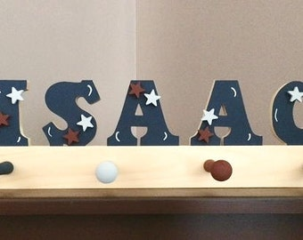 """3"""" 5 letter name, Pegrack , personalized"""