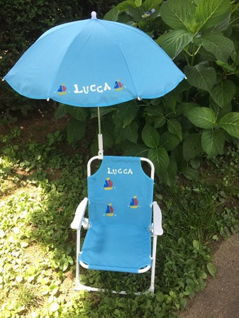 image 0 ... & Personalized toddler beach chair u0026 umbrella for kids | Etsy