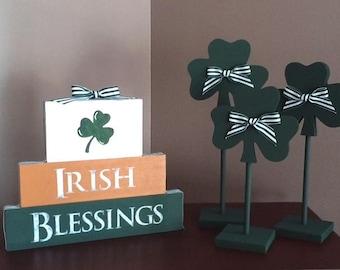 Irish Blessing blocks