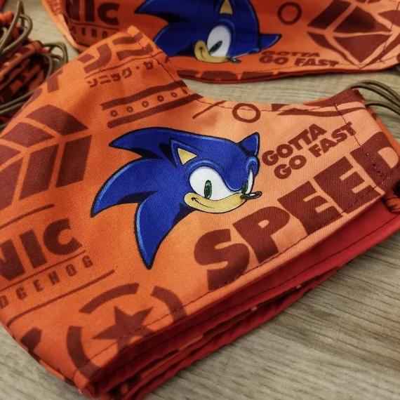 Sonic Fabric Face Mask Etsy