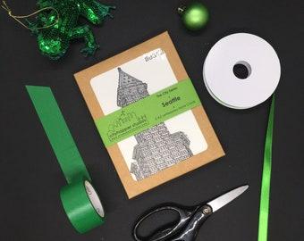 Seattle Landmark Letterpress Card Set   Seattle Card   Seattle Art   Architecture Gift   Christmas Gift   Gifts Under 25   Housewarming Gift