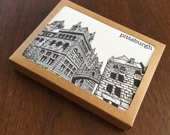 Pittsburgh City Series Letterpress Note Card Set