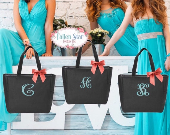 Maid of Honor Tote Bags Bridesmaid Tote Bags Bridesmaid Gift Bags Bridesmaid Gift Ideas Maid of Honor Gift Ideas