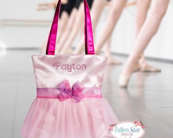 Dance Bag, BALLET slipper bag, Tutu ballerina bag, ballerina shoe bag, girls dance bag, ballet class bag, ballet slippers bag, bling