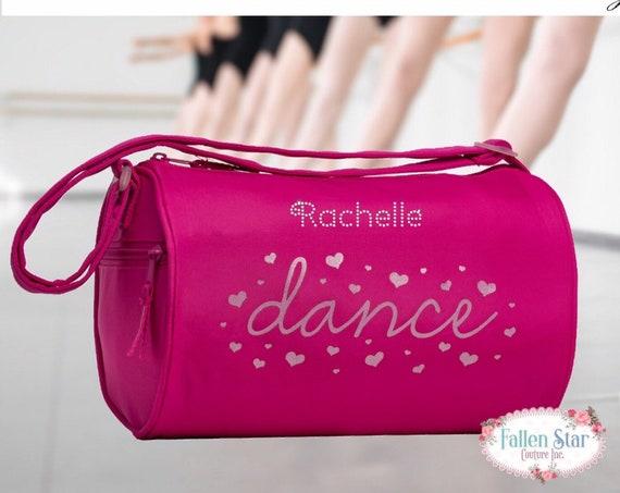 Girls dance bag, ballerina bag, ballerina shoe bag, girls dance bag, ballet class bag, ballet slippers bag, bling dance bag