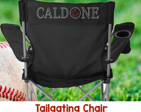Personalized Stadium Chair , Baseball Mom Chair , Sideline Chair , Camping Chair , Personalized Chair  BLING