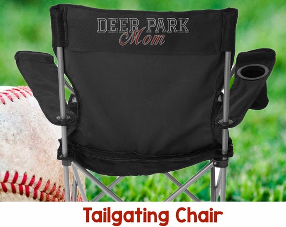YOUR TOWN Personalized Stadium Chair , Baseball Mom Chair , Sideline Chair , Camping Chair , Personalized Chair  BLING