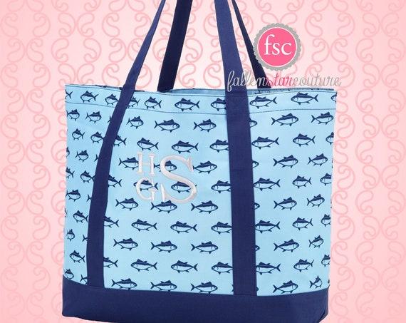 Monogrammed tote bag , FINN  tote bag, beach bag, kids beach bag,  monogrammed beach bag, girls tote , kids personalized tote