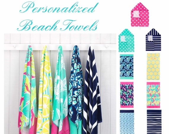 Beach Towel, Personalized Beach Towel, Monogrammed Beach Towel, Pool Towel , Personalized Towel, Hooded Towel , Bridesmaid Gift