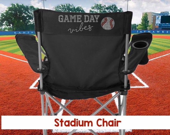 Game Day Vibes , Tailgating Chair , Personalized Stadium Chair , Baseball Mom Chair , BLING