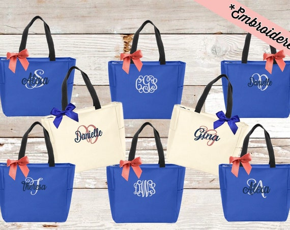 Personalized Cheer bag, Dance Bag, Beach Bag, Bridesmaid Gift, Tote Bag, Embroidered Tote, Monogrammed Tote, Bridal Party Gift