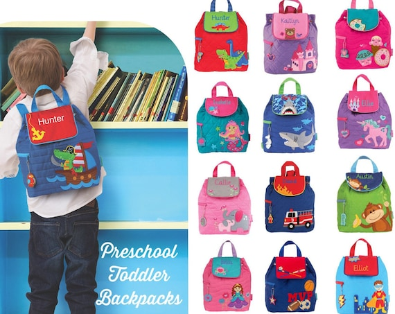 Preschool backpack, toddler backpack, Stephen Joseph Quilted backpack, little girls backpack, Kids toy bag, back to school