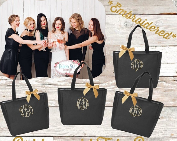 Personalized Tote Bag for Bridesmaids , Personalized Bridesmaid Tote , Personalized Wedding Tote ,Personalized Bachelorette Gift