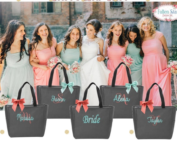 Bridesmaid Tote Bags, Maid of Honor Tote, Personalized Bridesmaid Bags, Bridal Party Bridesmaid Gifts , Bachelorette GIft, Bachelorette Tote