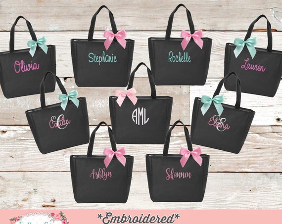 Bridesmaid Tote Bag, Monogrammed Tote Bag, Personalized Tote Bag, Bridal Party Gifts, Gifts for Her, Teacher Totes, Personalized Gifts