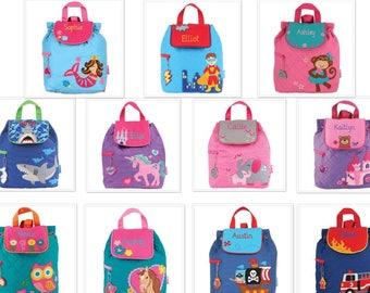 Kids QUILTED backpack , toddler back back , toy bag , preschool backpack , stephen joseph backpack , personalized kids bag