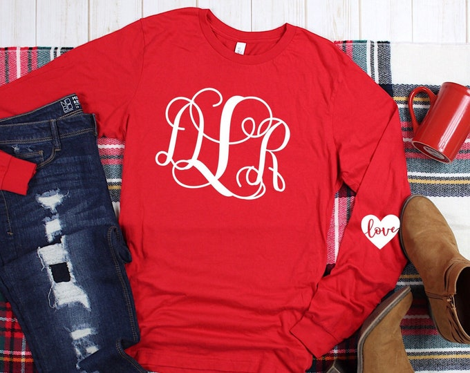 Valentines Day Shirt , Elbow Patch Heart, Monogrammed Valentine Shirt, Kids Valentines Day Shirt , Girls Valentine Shirt