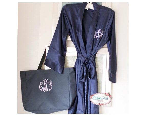 Bridesmaid Robe, Bridesamid Tote , Bridal Party Gift , Bridesmaid Gift , Will You Be My Bridesmaid , Maid Of Honor Gift, Monogrammed Robe