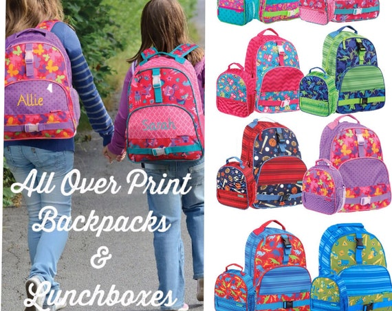 Toddler Backpack /Stephen Joseph Backpack/ Personalized Backpack / Preschool Backpack / Kindergarten Backpack / All Over Print