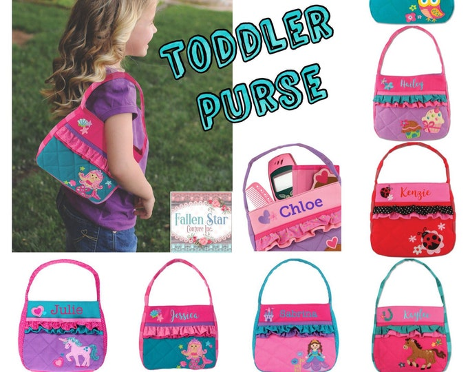 Toddler Purse Personalized Little Girl Purse Gifts for Granddaughters Toddler Dress Up pocketbook Preschool Purse Personalized Toddler Gift