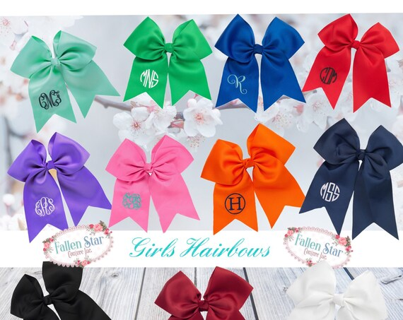 Personalized Hair bow , Large Hair Bow, Cheer Bow , Monogrammed Hair bow, Girls Hair bow, Personalized Cheer Bow, Large Cheer Bow