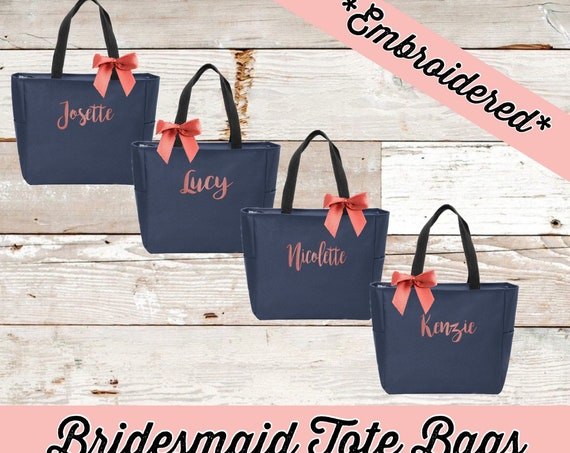 Bridesmaid Tote Bag, Bridesmaid Gifts , Bachelorette Party Gifts , Wedding Party Gifts , Girls Weekend Gifts , Bridesmaid Totes