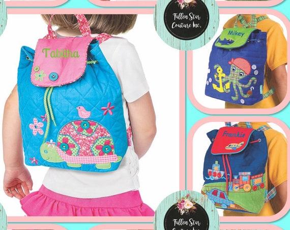 Kids backpack , toddler back back , toy bag , preschool backpack , stephen joseph backpack , personalized kids bag , SIGNATURE BAG