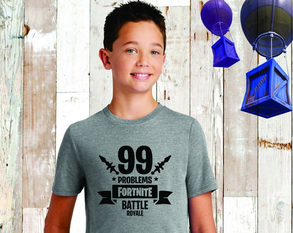 Boys Fortnite Tee, Fortnite Shirt, Fortnite Birthday , Fortnite T-Shirt , Fortnite Lover, Floss, Fortnite Kids Tee, Fortnite 99 Problems
