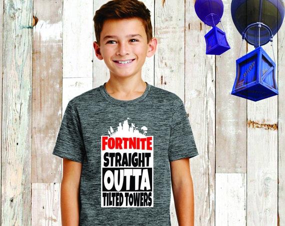 Boys Fortnite Tee, Fortnite Shirt, Fortnite Birthday , Fortnite T-Shirt , Fortnite Lover, Floss, Fortnite Kids Tee , Tilted Towers
