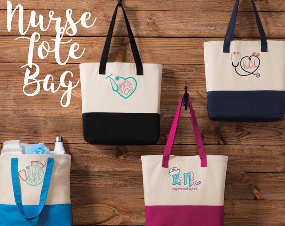 Nurse Tote Bag \\ Nurse Gift \\ Stethescope Tote \\ Nurse Tote Personalized \\ Nurse Gift Ideas \\ Nurse Gift Bag \\ Nurse Gift Woman
