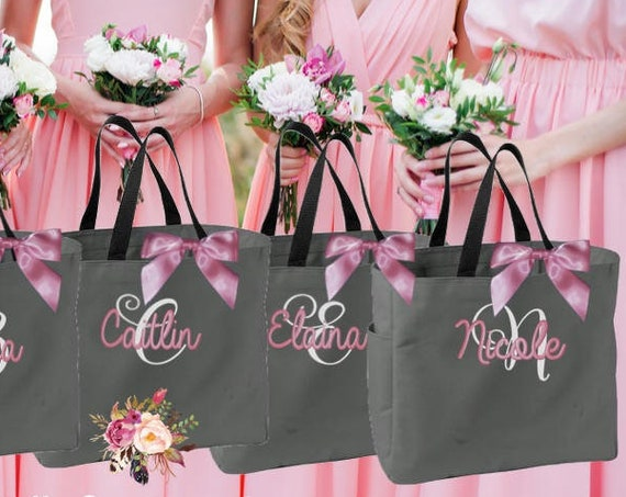 16 bridesmaid tote bags , bridesmaid gifts , tote bag , beach bag , bachelorette party gift ,wedding bag , maid of honor