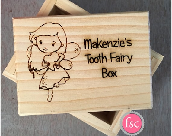 Tooth Fairy Box Personalized, child's tooth fairy box, tooth fairy keepsake, personalized tooth fairy keepsake, tooth fairy under pillow box